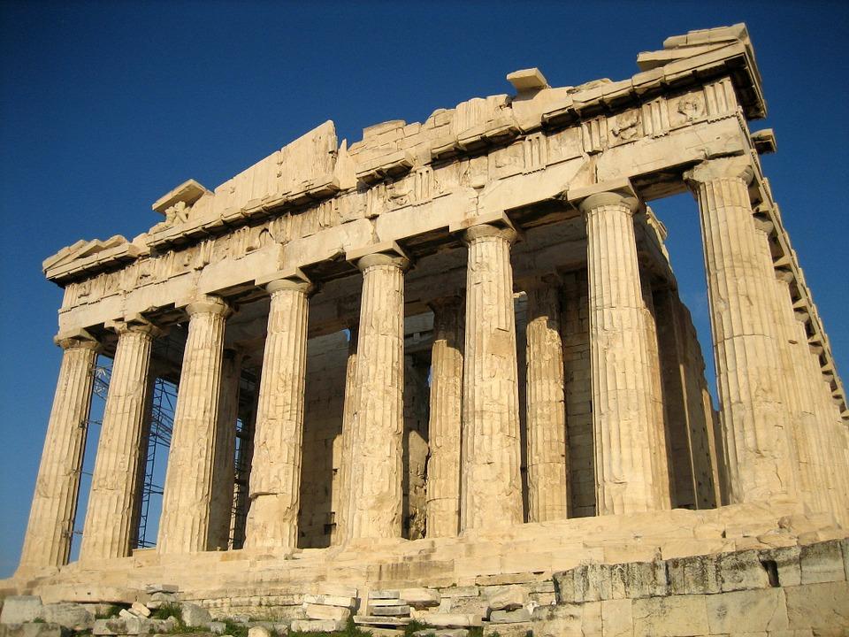 Akropolis Tempel Parthenon. Athens, Greece