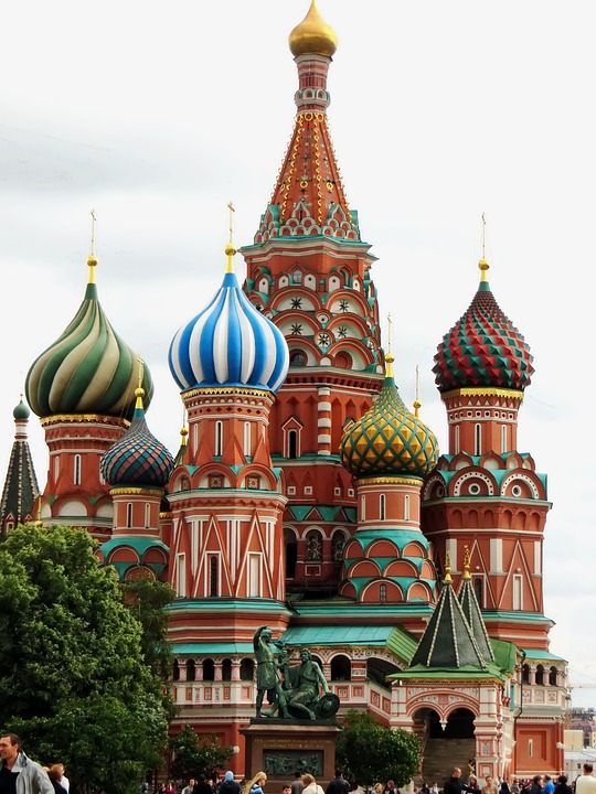 Saint Basil's Cathedral, Red Square in Moscow, Russia