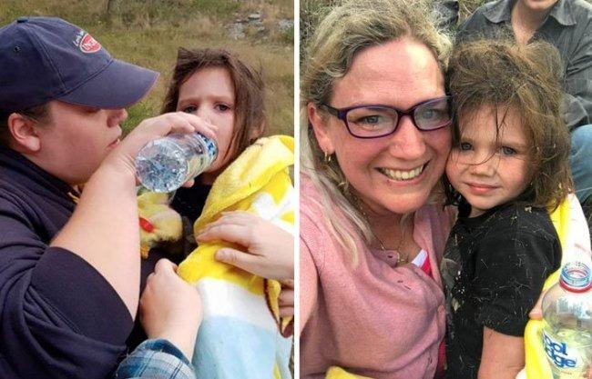 В Австралии глухой и полуслепой пес 15 часов охранял потерявшуюся девочку