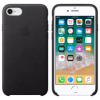 Iphone 7/8 Leather Black Back/Front Case