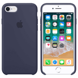 Iphone 7/8 Silicone Blue Back/Front Case