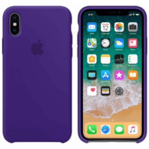 Apple iPhone X Silicone Cover Paars
