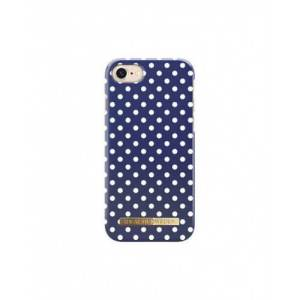 iDeal of Sweden iPhone 7/8 Fashion Back Case Blue Polka Dots