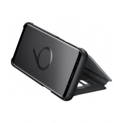 S9 Clear View Black Front Case