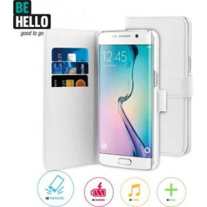 BeHello Samsung Galaxy S7 Edge Wallet Case White