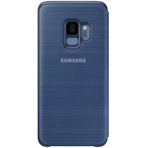 S9 View cover Blue Back Case