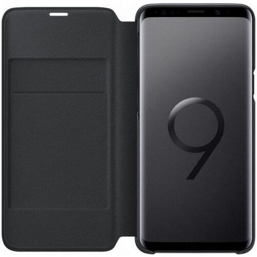 S9 View cover Black Front Case