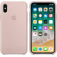 Apple Siliconen Back Cover voor iPhone XS Max – Pink Sand