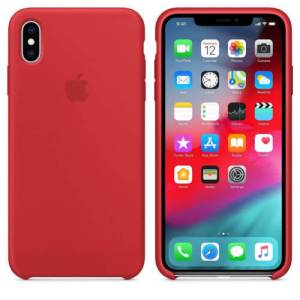 Apple Siliconen Back Cover voor iPhone XS Max – Rood