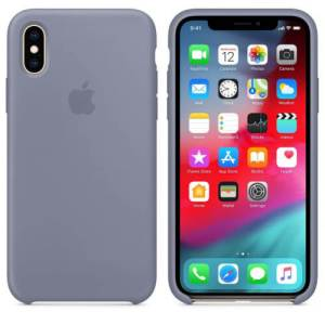 Apple Siliconen Back Cover voor iPhone X/Xs Grijs