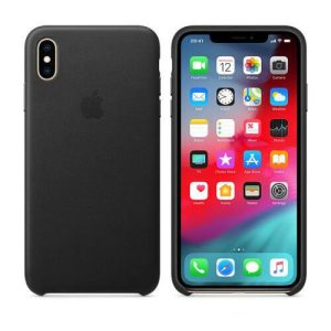 Apple iPhone X/Xs Leather Back Cover Zwart