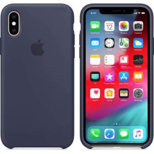 Apple iPhone X/Xs Silicone Back Cover Middernachtblauw