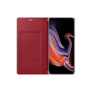 Samsung Galaxy Note 9 Leather Wallet Book Case Rood