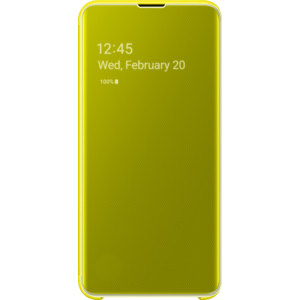 Samsung clear view cover geel voor Samsung Galaxy S10e