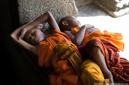 cambodia angkor young monks