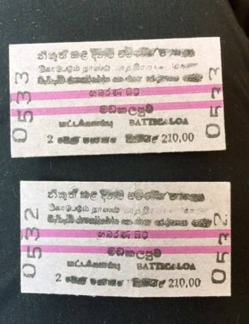 sri lanka train ticket