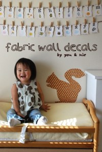 fabric wall decals | you and mie