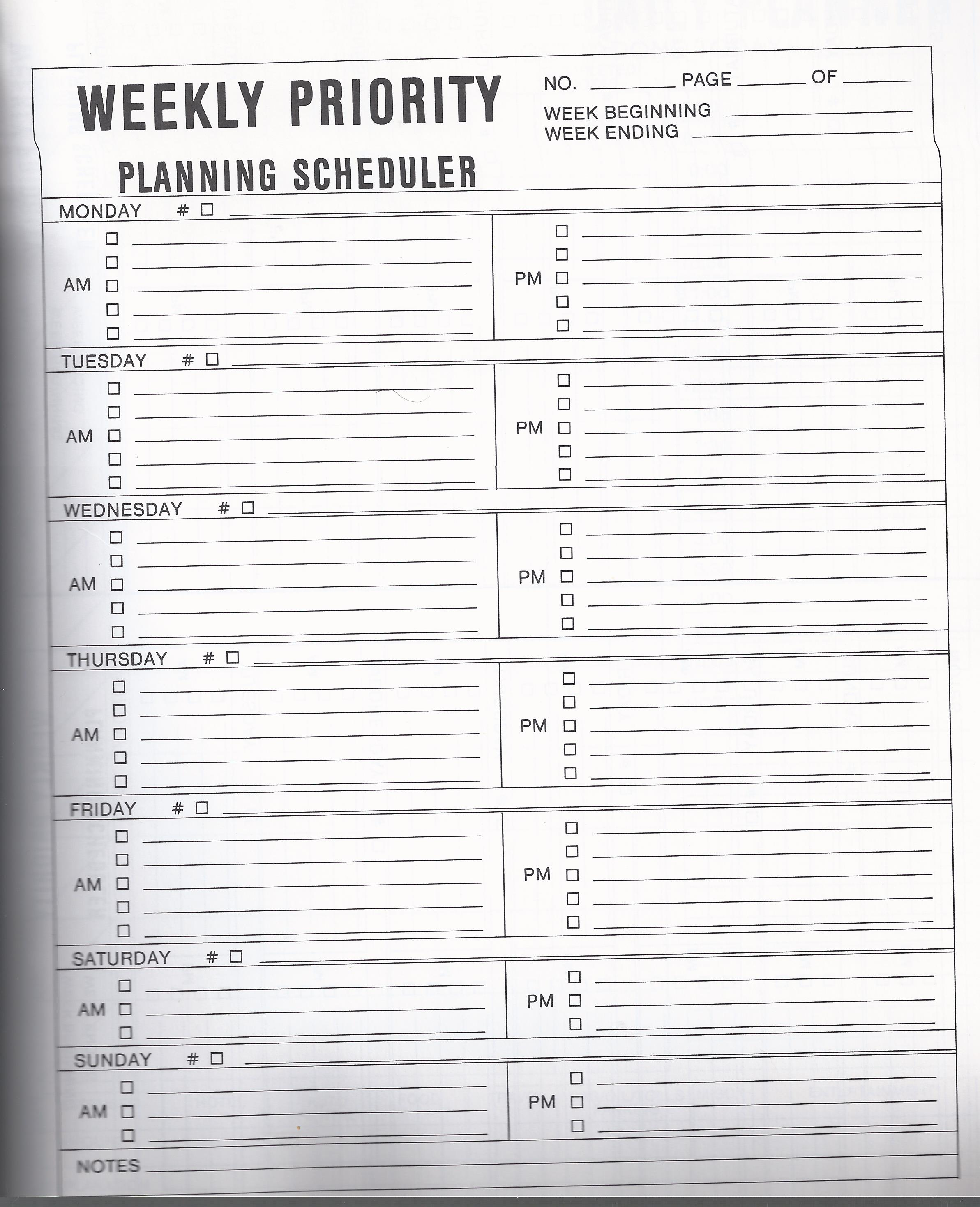 7 Blank Vintage Office Planning Templates To Help You Get Organized