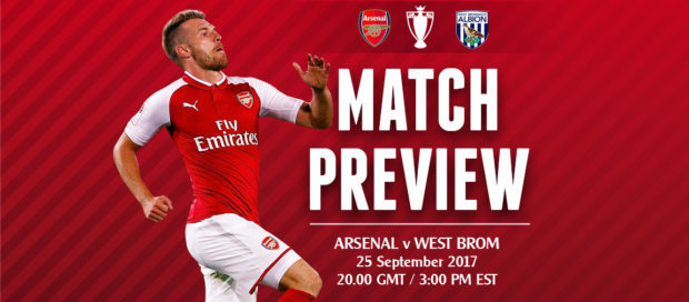 Match Preview: Arsenal v West Brom; Hell Week Begins