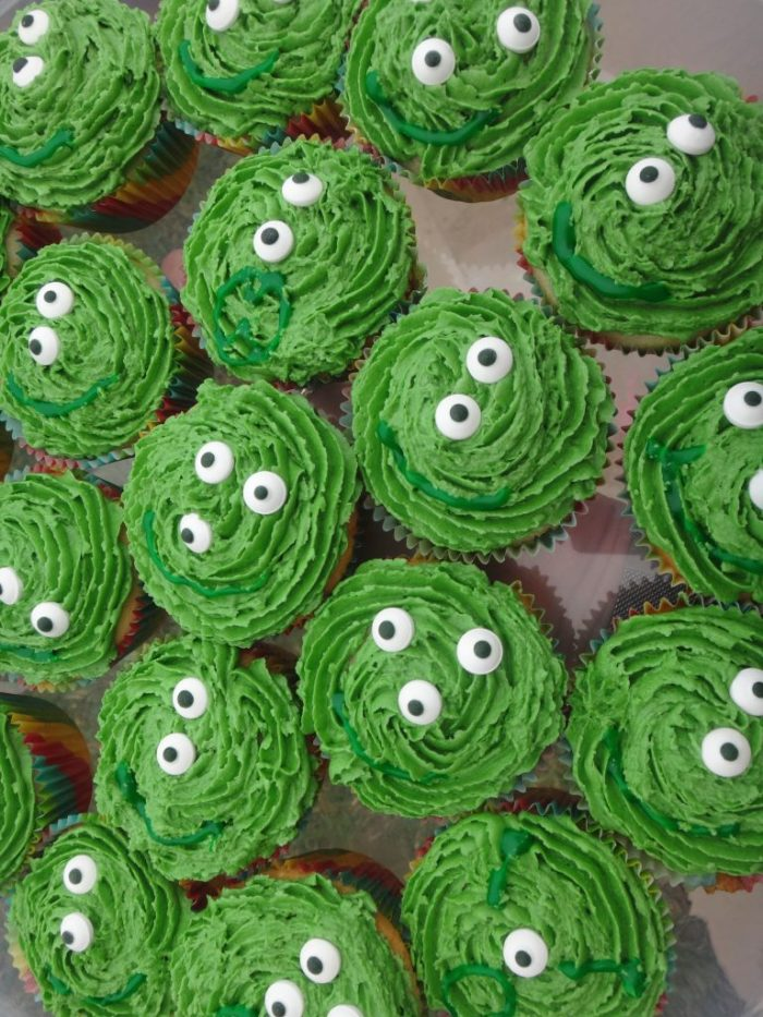 Monster cupcakes for all the guests
