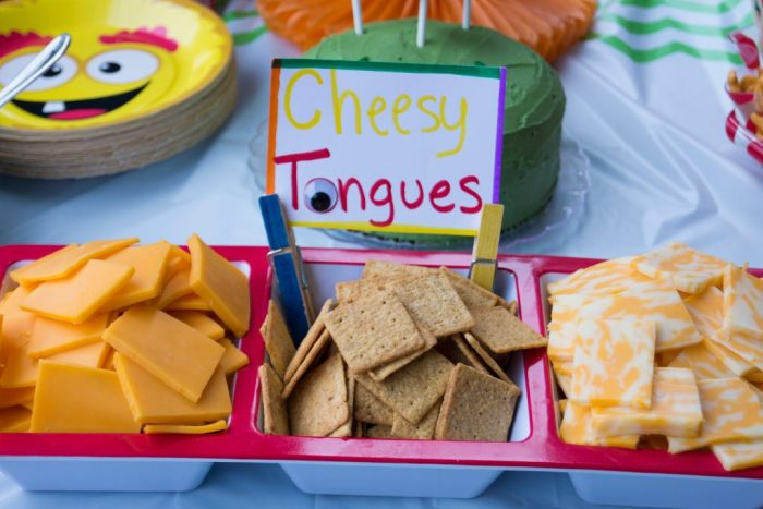 Monster tongues (crackers & cheese)