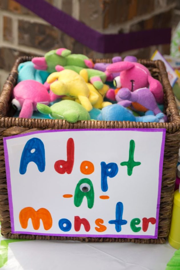 One of the favors: Adopt a Monster