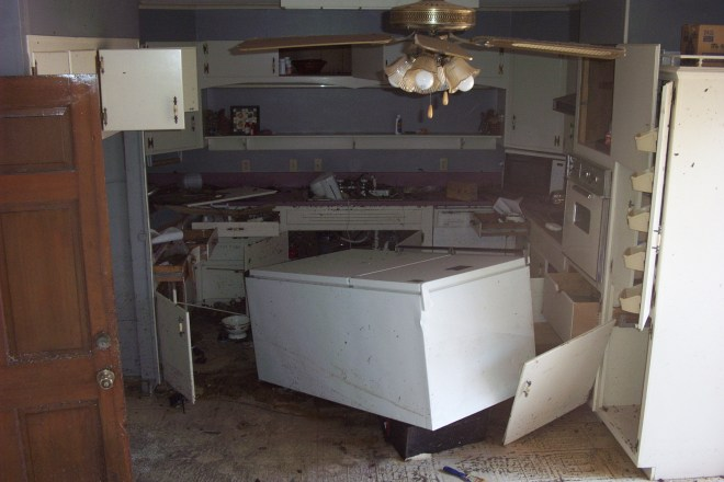 My inlaws' kitchen after Katrina.