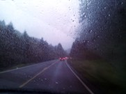 I love rainy days in the car. Oregon.