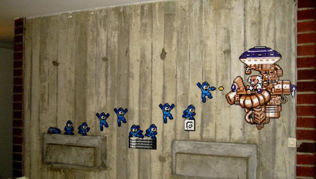 A Gallery Of Awesome Old School 8Bit Video Game Graffiti