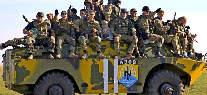 новости,новости Украины,марш батальона азов,батальон азов,нацисты из батальона азов,правые батальона азов устроили мар,в ивано франковске батальон азов устроили марш
