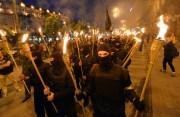Нацисты устроили факельное шествие в Черкассах (Видео)