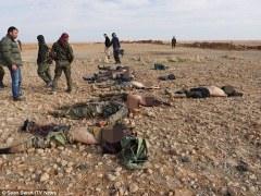 Пустыня завалена сотнями трупов ИГИЛ(Видео +18)