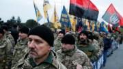 """Киевские полицейские избили  нациков из батальона """"Азов"""""""