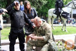 На Херсонщине избили «атошников» ( Видео )