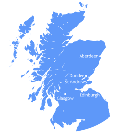 You Can Be a Doctor - Map image of Scotland