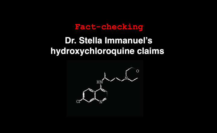 Fact-check: Dr. Stella Immanuel's hydroxychloroquine cure