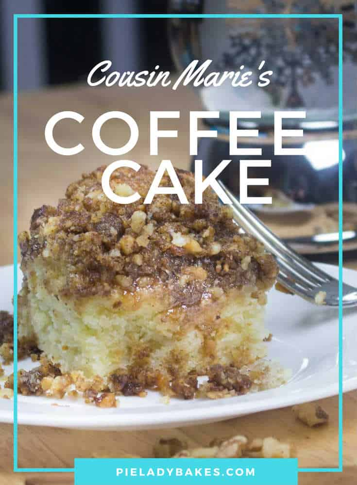 Easy to make old fashioned coffee cake includes brown sugar, cinnamon, fresh walnuts all swimming in creamy caramel sauce. It's the bomb! Perfect for lazy long weekend, brunch with friends or just because.  #coffeecake #oldfashioned #vintagerecipes #caramelsauce