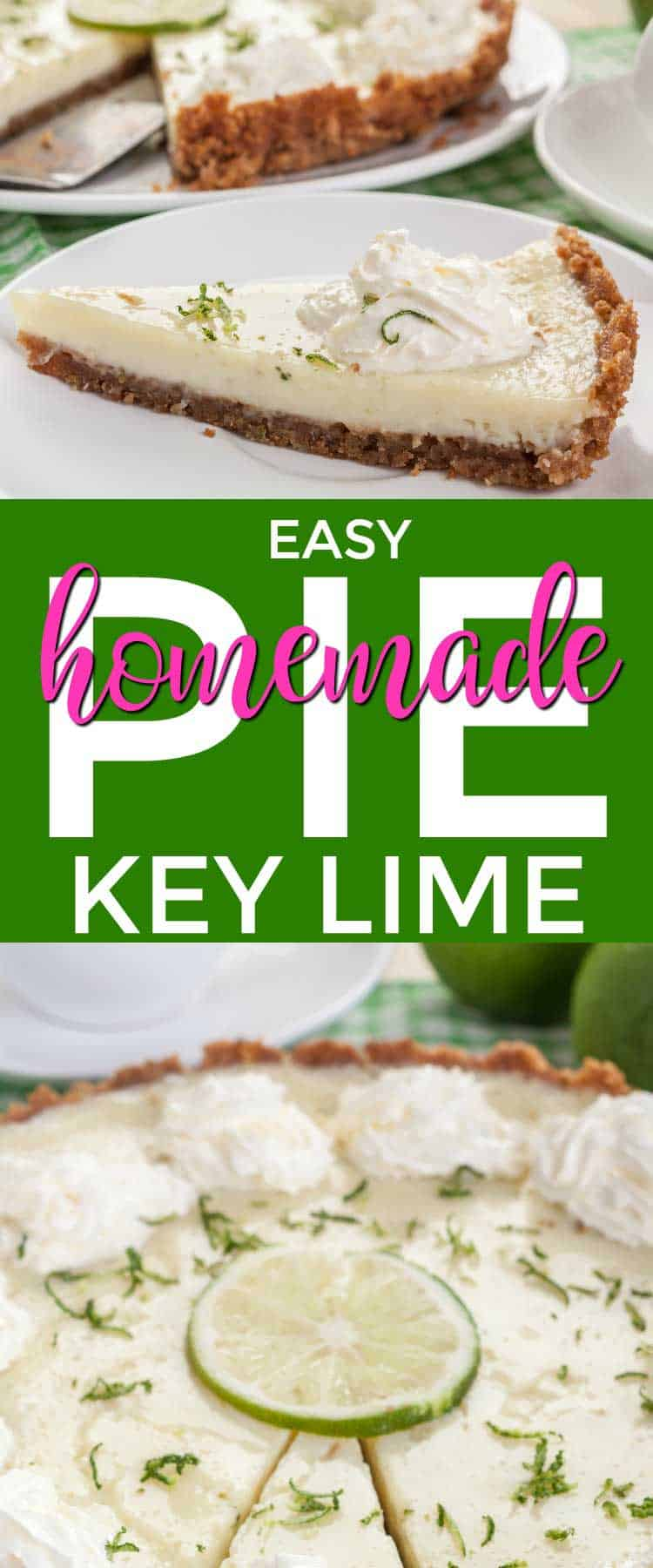 A Real Key Lime Pie recipe that's melt in your mouth delicious and BIG on Flavor! A simple recipe that is no bake, whips up in no time at all, and will have everyone asking for the recipe! Key Lime Pie is THE #1 pie you see served in Diners in the South! #keylimepie #auntsally #keywest #keylimes #bestdesserts #nobakepies #easypierecipes #ilovepie #homemadekeylimepie