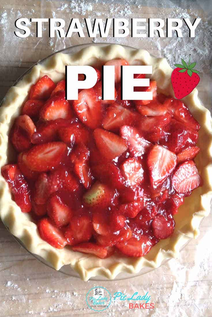 Strawberry Pie is the perfect pie for Spring! An easy recipe, and look at those beautiful pie crust techniques. We add a special ingredient to our homemade strawberry pie. Delicious anytime at all. #strawberrypie #easypierecipes #maplesyrup #fruitpierecipes #piecrust #howtomakeapie #
