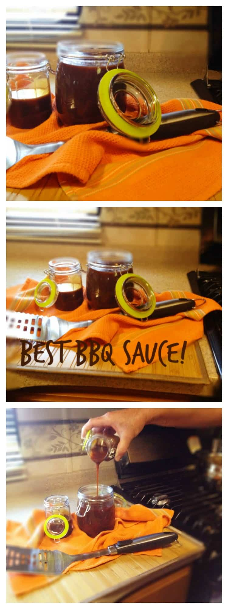 This is the easiest BBQ sauce you will ever make.  I make a double batch and always have it on hand.  Your BBQ ribs and BBQ chicken will explode with flavour.  #homemade #bbqsauce #hickoryflavour