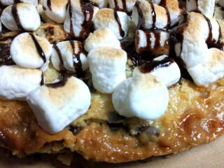 S'mores Magic Cookie Bar Pizza