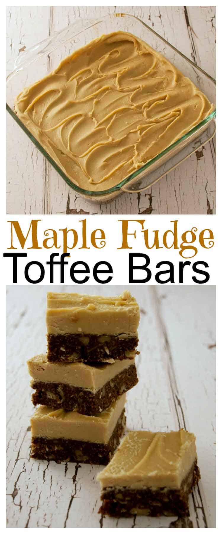 Maple Fudge Toffee Bars and Sweet Eileen's