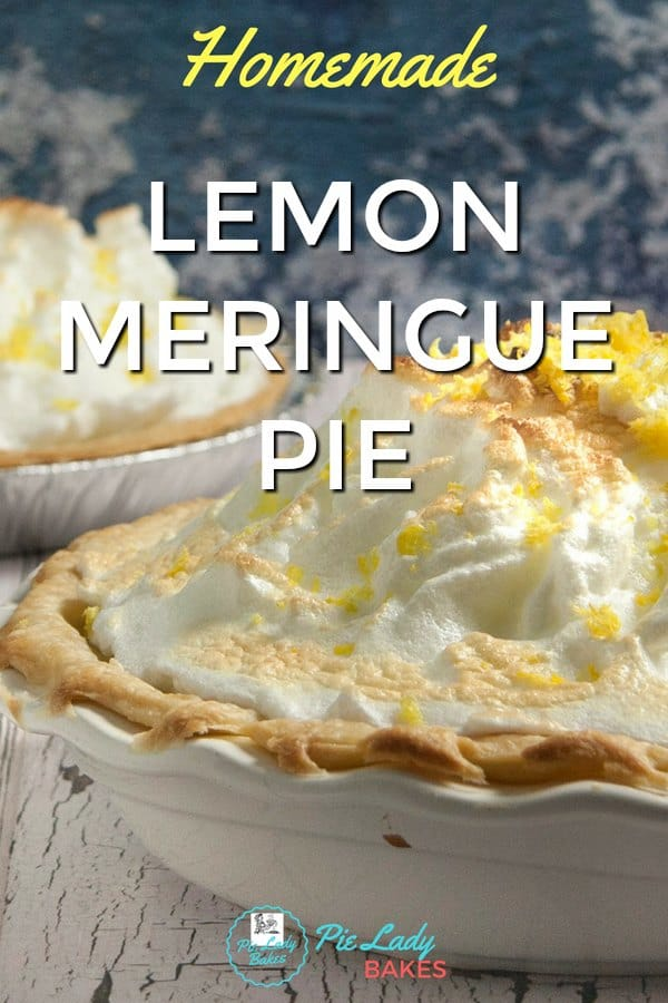This Homemade Lemon Meringue Pie Recipe is so delicious, you'll never use a  mix again! Fresh citrus flavor in every bite & just look at all that meringue!