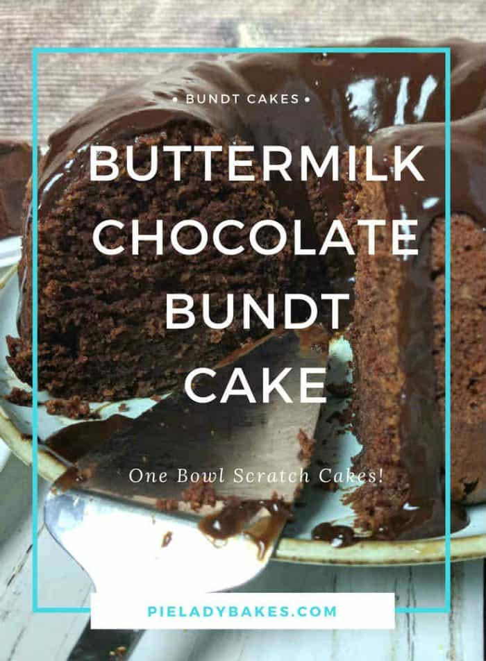 This Buttermilk Chocolate Bundt Cake is BIG on flavour and short on prep time. The recipe makes a large Bundt cake big enough to feed a crowd!
