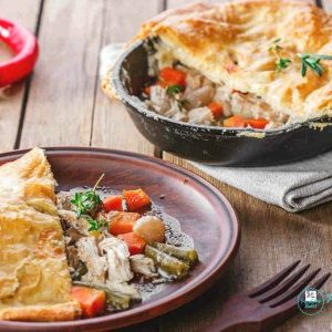 Easy Chicken Pot Pie With Puff Pastry Crust