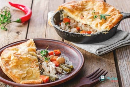 Easy Chicken Pot Pie With Puff Pastry Crust {Video}