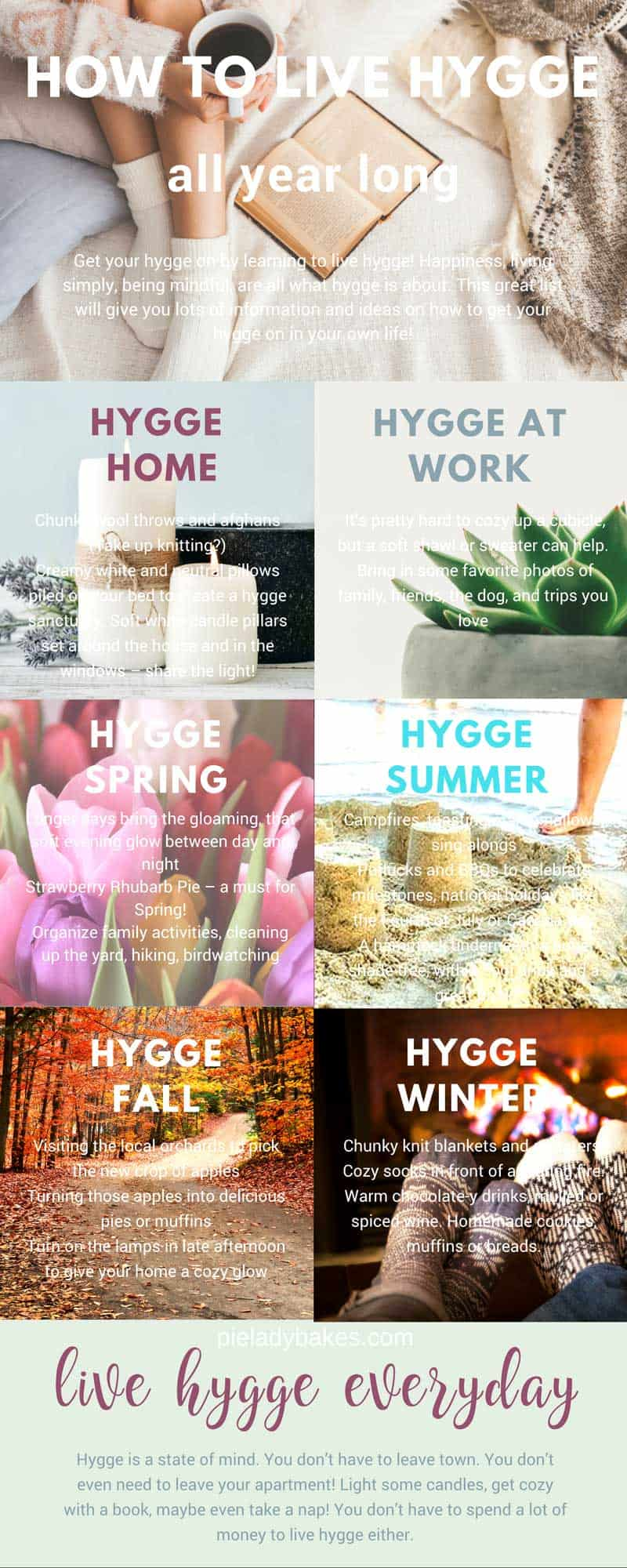 Create a happy home for you and your family with Hygge! A hygge life is a happy life! Happiness, living simply, being mindful, are all what hygge is about.  This great list will give you lots of information and ideas on how to get your hygge on in your own life! #hygge #hyggelifestyle #youcanliverichonless.com #happiness #denmark #danishmeaning #hyggelit #hyggehome #hyggespring #hyggesummer #hyggefall #hyggewinter #hyggehomedecor