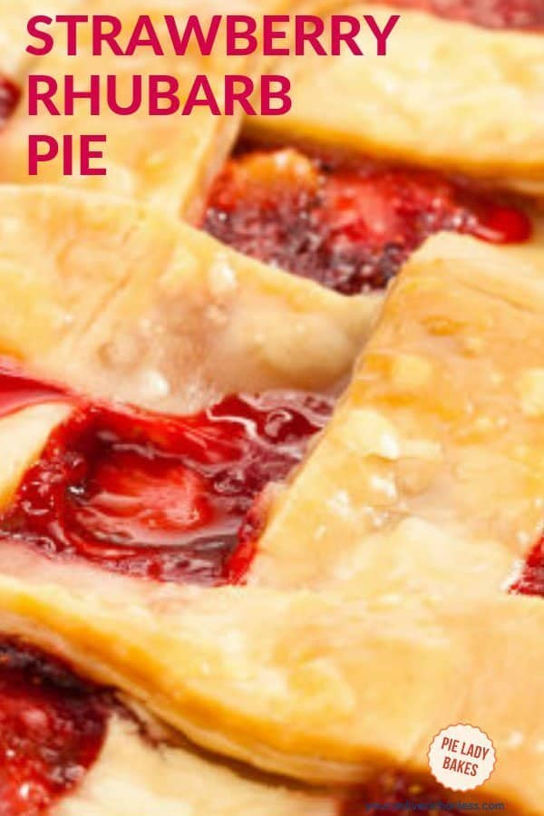 Juicy sweetness in every bite, don't you want to dive into this amazing strawberry rhubarb pie right now? Click through to get this easy recipe, buy some frozen rhubarb, and enjoy some Spring right now! #spring #rhubarb #strawberryrhubarb