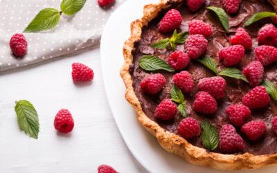 Chocolate Raspberry Tart & Sugar Cookie Crust