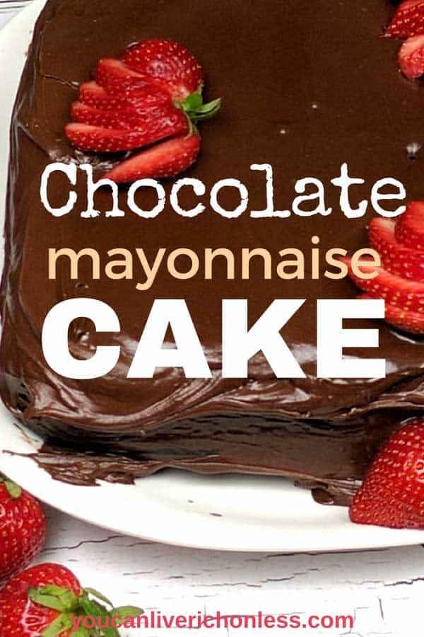 This luscious and deliciously moist Old Fashioned Chocolate Mayonnaise Cake Recipe is Grandma approved. A One Bowl Scratch Cake, it's so easy to make and the taste is out of this world! #Chocolate Mayonnaise Cake Southern Living, #Hellman's Chocolate Mayonnaise Cake, #Taste of Home Chocolate Mayonnaise Cake #chocolate #chocolatecake #mayonnaisecake #chocolatemayonnaisecake #oldfashioned #vintagerecipes #moist